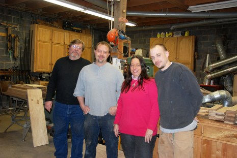 Tommy (left), Matt, Ruth and Jason Klutz all work in the family business.