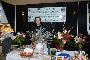 The folks from Shady Grove Gardens and Nursery set up shop at the annual wedding expo in 2015.