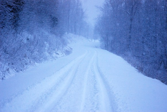 Secondary roads still covered in Boone on Thursday morning. Photos by Ken Ketchie