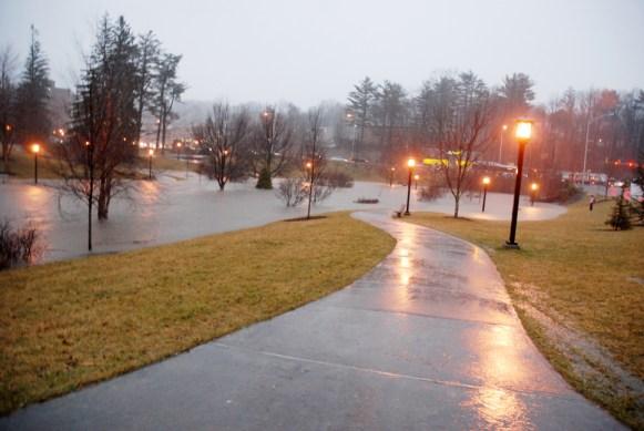 Kraut Creek in the Durham Park on the campus of ASU. Photo by Ken Ketchie