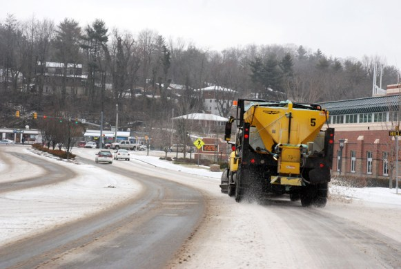The plows are out around town. Photo by Ken Ketchie