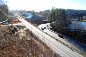 Work begins on the new intersection of U.S. 321 and U.S. 321 Business/U.S. 221. Photo by Ken Ketchie