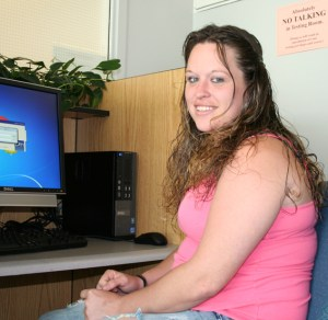 Pictured is GED® graduate Brandi Doyle who was the first student in NC to take advantage of compuer-based testing for earning the GED®.
