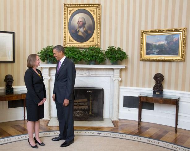 Grimes with Pres