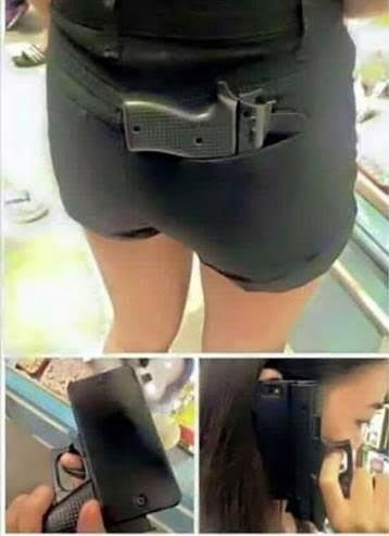 Gun-Shaped Phone Case. Photo Courtesy of Chief Tony Jones.