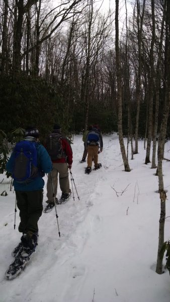 Snowshoe hikes at Grandfather Mountain State Park. Photo provided by Park Ranger Andy Sicard.