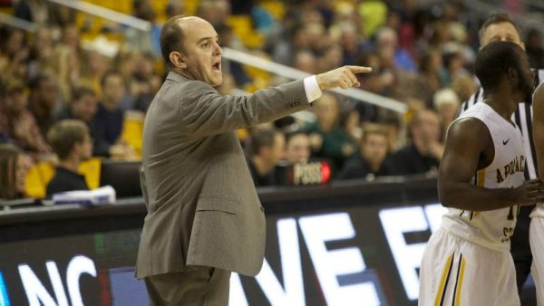 Appalachian State men's basketball and head coach Jim Fox released the 2015-16 non-conference schedule on Wednesday. Photo courtesy: Kelsey Sharkey / App State Athletics
