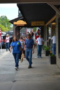 Downtown Boone is bustling on Memorial Day. Photo by Mark Kenna