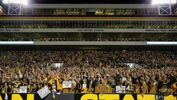 Appalachian State hosts Old Dominion (Sept. 10), Miami (Sept. 17), Georgia State (Oct. 1), Idaho (Oct. 22), Texas State (Nov. 5) and UL Monroe (Nov. 19) at Kidd Brewer Stadium this fall.Courtesy: Will Phillips (Appalachian State Football Video)