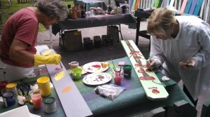 Linda Norman and Kay Morrow at our first Picket Painting Party (Medium)