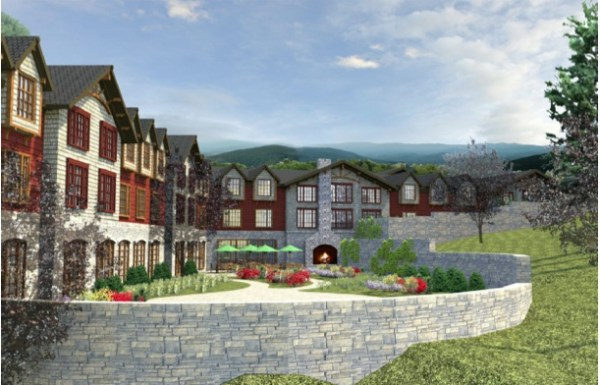 A conceptual rendering of the Mountainleaf development.