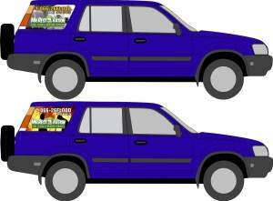 Mr. Restoration - 1Blue Honda CRV window perf side view