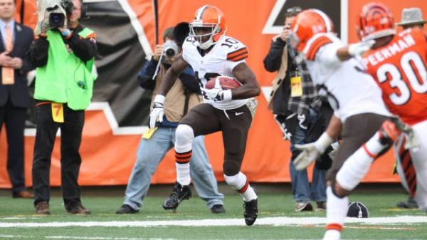 Appalachian State alumnus Armanti Edwards, who finished his 2013 campaign with the Cleveland Browns, has signed a free-agent contract with the Chicago Bears. Courtesy: Cleveland Browns