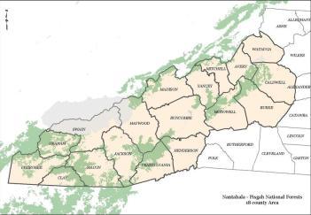 Nantahala-Pisgah National Forests 18 County Region