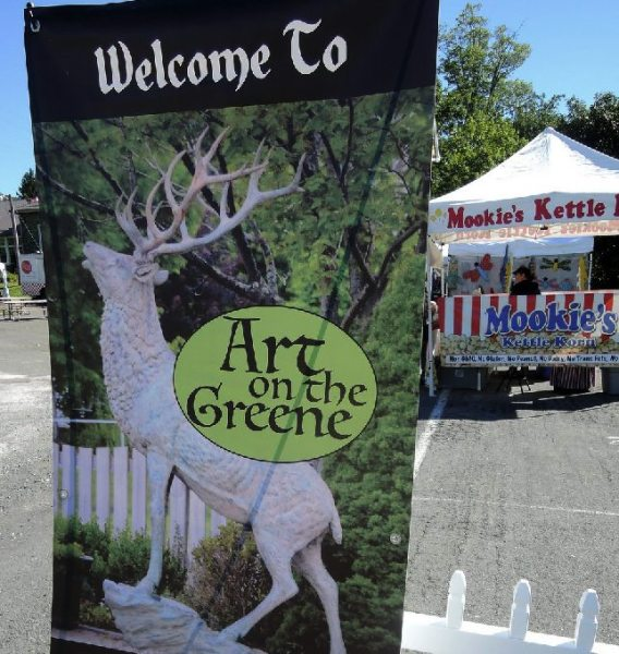 Art on the Greene participants were greeted with sunshine and Mookie's Kettle Korn in Banner Elk on September 3.