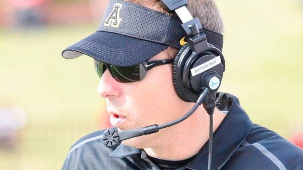 "Athlon Sports tabbed Appalachian State head coach Scott Satterfield as one of college football's ""Top 15 Coaches on the Rise for 2015."" Photo courtesy App State Sports / Allyson Lamb"