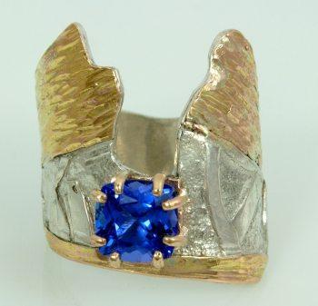 Ran Allison - Blue Tanzanite, Sterling Silver & 14K Gold