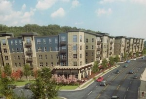 Rendering of the development shown to council members on Thursday evening.
