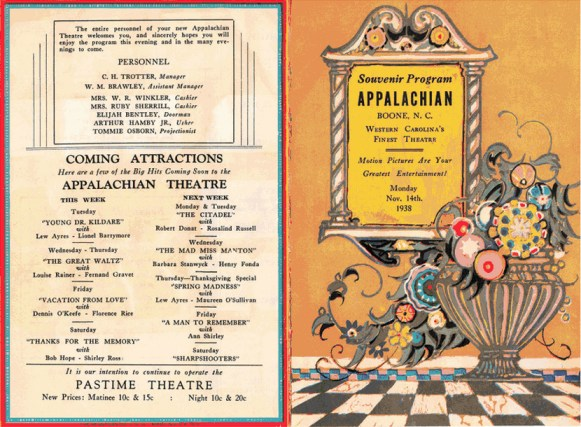 The original program from November 14, 1938.