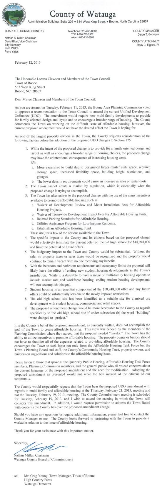 ToB regarding UDO Amendments