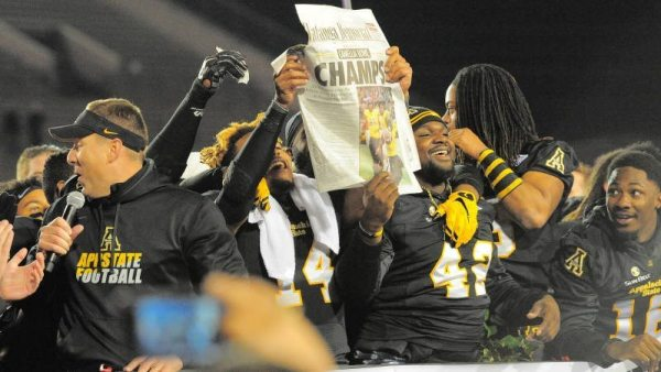 Items such as autographed 2015 Appalachian State football gameday programs, game worn Camellia Bowl jerseys, gameday honorary coaching packages and even a gameday fan experiences will be up for auction in the coming months. Photo courtesy: Allyson Lamb / App State Athletics
