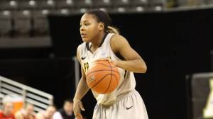 Raven Gary led Appalachian State with 12 points on Saturday versus Chattanooga. Photo by Rob Moore and courtesy of Appalachian Sports Information