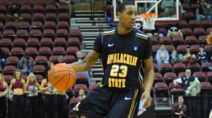 Mike Neal filled up the stat sheet with 16 points, seven rebounds and seven assists in Wednesday's loss at South Carolina. Photo by Dave Mayo and courtesy of Appalachian Sports Information