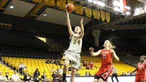 Maryah Sydnor put up 18 points for the Mountaineers. Photo by Rob Moore and courtesy of Appalachian Sports Information