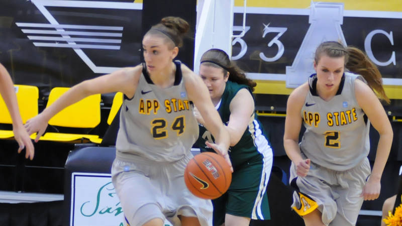 Second Half Surge Propels Lady Apps Over Uncg High Country Press