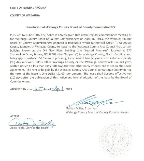 WCAC Resolution