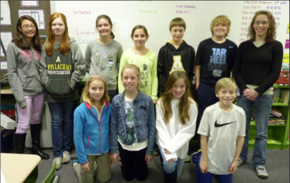 Participants in recent regional science competitions included (left to right, back row) Tessa Trate, Caitlin Sanders, Lennon Lupton, Emiley Geouque, Robert Jones, Cole Franklin, and teacher Allyson McFalls; Front row, left to right:  Lindsay Alexander-Eitzman, Caroline Hoover, Abbi Hayworth, and Michael Walker.  Not pictured:  Suzanna Gurkin