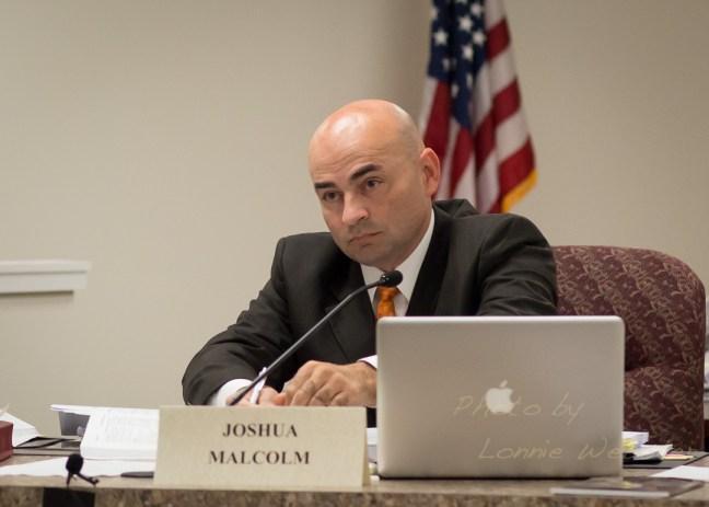 State Board of Elections Member Josh Malcolm, a Democrat