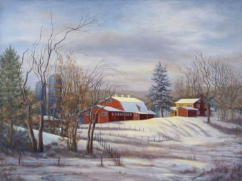 "Mary Martha McKinley, ""Winter Thaw at Mary's Land"" 30x40"