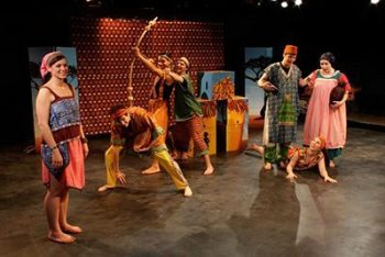 """AYPT's """"Drum Song of Africa,"""" an original play written by Teresa Lee, Sherone Price and Shawn Roberts in 2011, is pictured with costumes and masks designed by Sue Williams. Photo credit: Appalachian Young People's Theatre."""