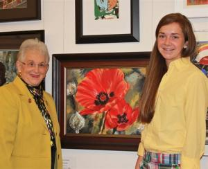 Congresswoman Foxx welcomes rising sophomore McKenzie Chasteen of Boone to the United States Capitol to celebrate McKenzie's winning submission to the 2013 Congressional Art Competition.