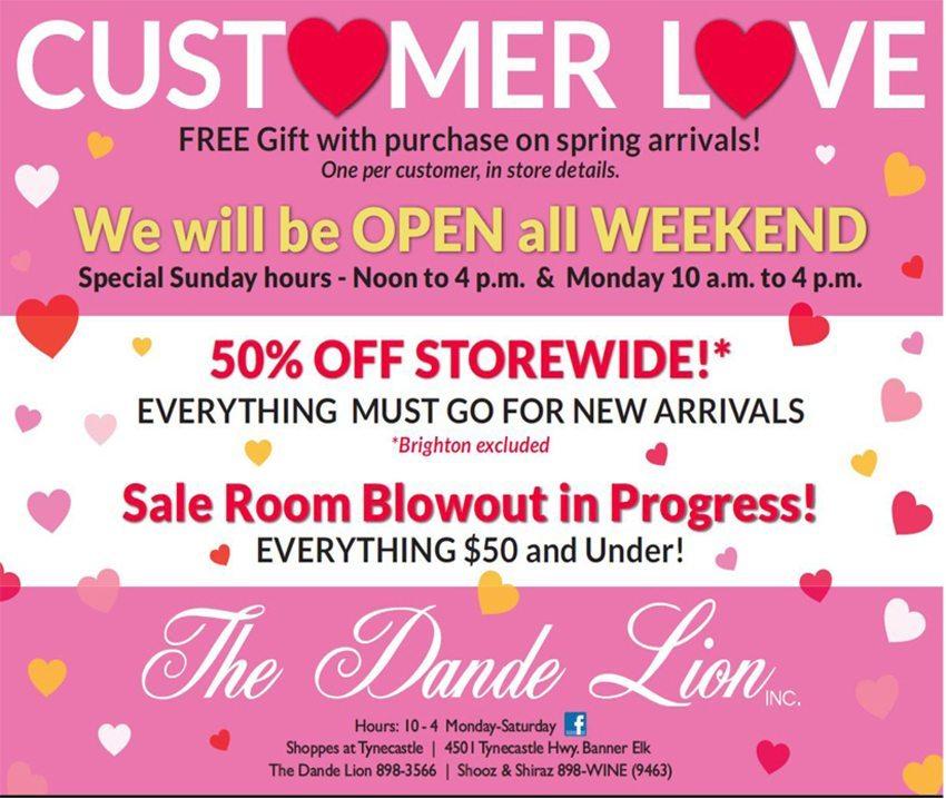 dande lion-customer love