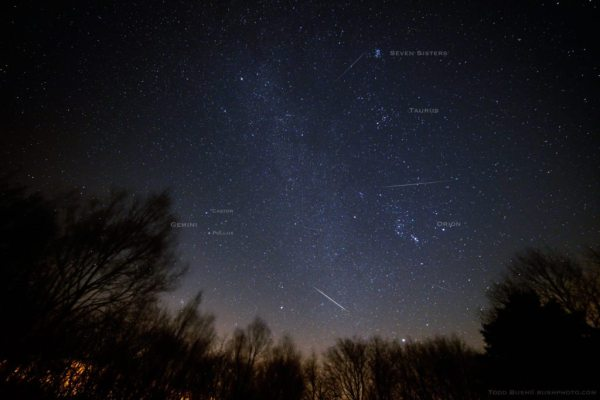 Todd Bush Shares Photos of Geminid Meteor Shower From