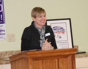 Keynote speaker Lisa Bottomly. Photo by Paul T. Choate
