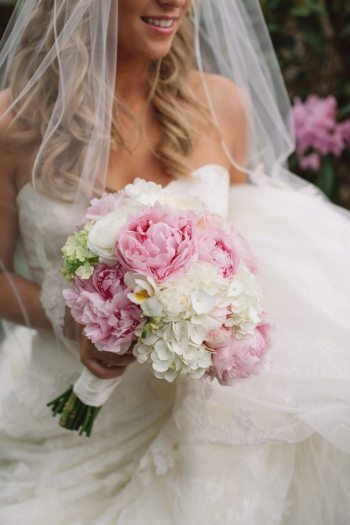 A bridal bouquet created by Fuschia Moss. Photo by Revival Photography.