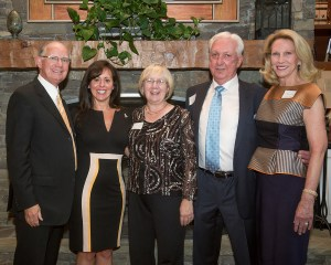 Newly named honorary alumni of Appalachian State University pose with Chancellor Kenneth E. Peacock, far left. They are, from left, Jamie D. Schaefer, Pat Phillips, and Ronny and Patsy Turner. (Photo by Marie Freeman)