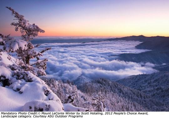 """Mount LeConte Winter "" Scott Hotaling  2012 People's Choice  Landscape"