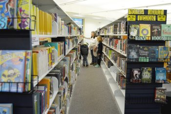 Local readers enjoy perusing the aisles of books available at the Watauga County Public Library.