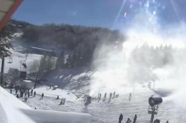 Live webcam at Beech Mountain Resort at about 11 a.m.