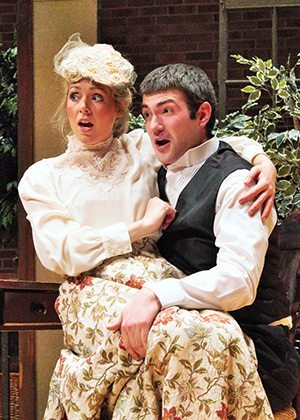 """Jacob Cook plays Figaro and Mary Royall Hight plays Susanna in """"The Marriage of Figaro"""" to be performed at Appalachian State University. Photo by Ashlynn Doyle."""