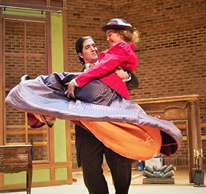 """Morgan Prince sings the role of Bartolo and Farren Hilliard sings the role of Marcellina in the Appalachian Opera Theatre production of """"The Marriage of Figaro."""" Photo by Ashlynn Doyle"""
