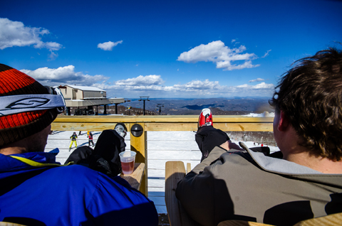 The view from the bar atop Beech Mountain Resort. Photo by Kristian Jackson