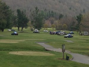 This photo was taken about 45 minutes after the crash at the Boone Golf Course. Photo by Ken Ketchie