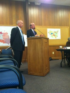 James Smith and Bill Owen present to the Planning Commission