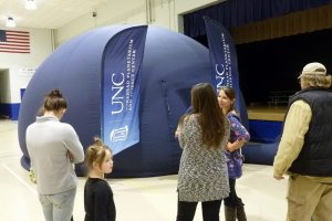 This portable planetarium was featured at Bethel's Math and Science Night.