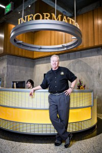 Dave Robertson, director of student programs, stands in the 58,000-square-foot addition to Plemmons Student Union at Appalachian State University. Photo by Marie Freeman